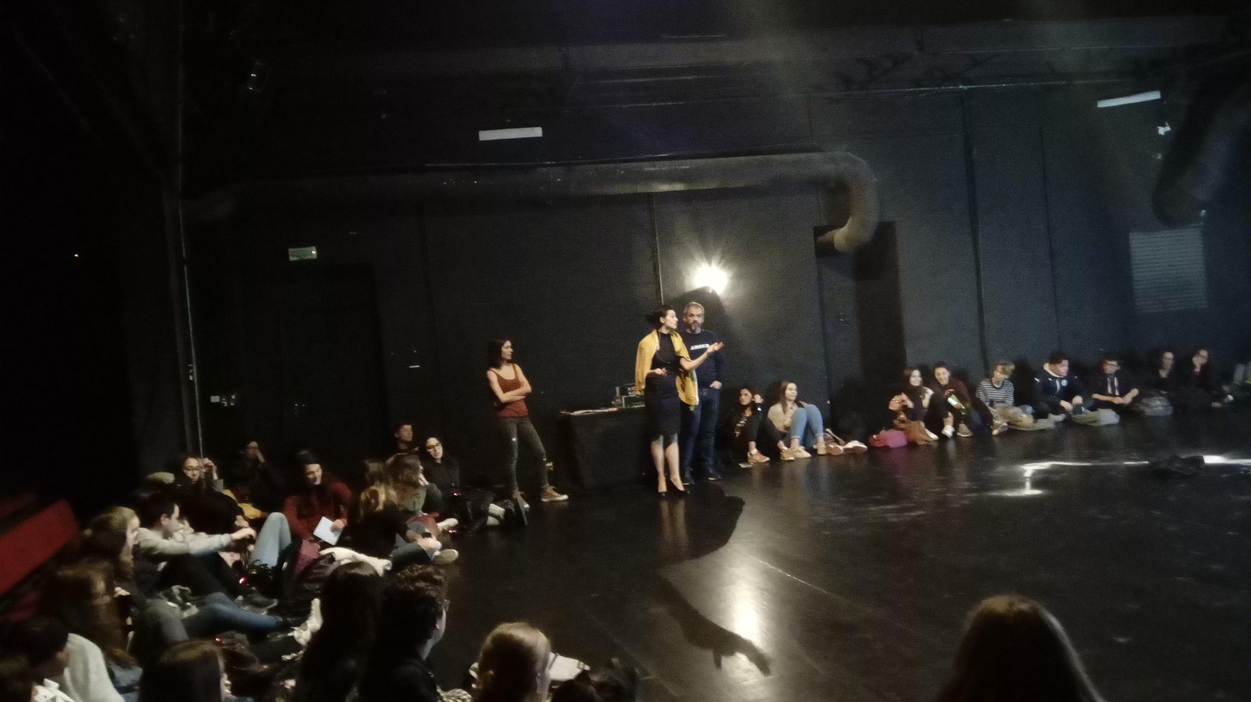 Andys'gone, échange avec les élèves après le spectacle