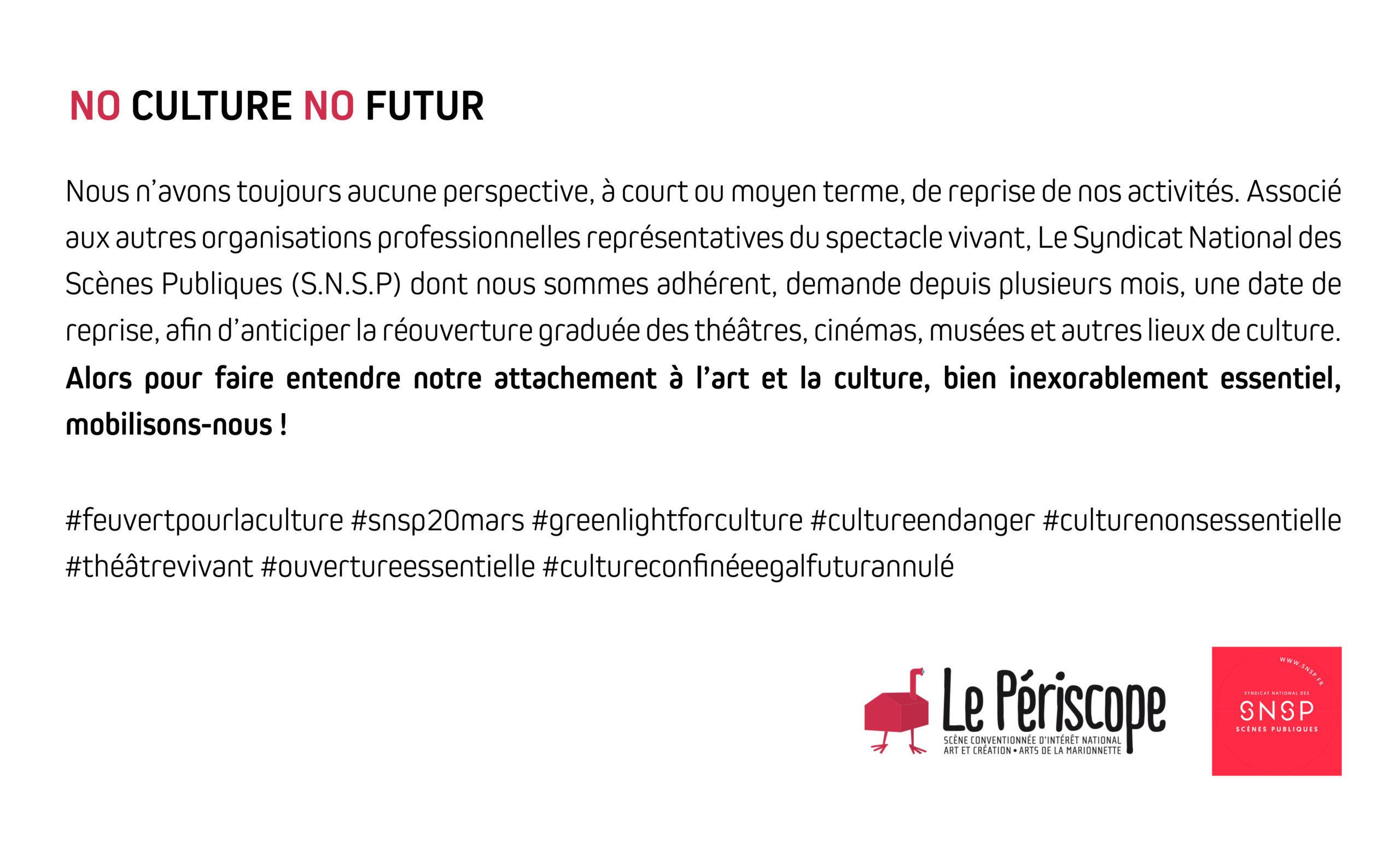 Mobilisons-nous pour la culture